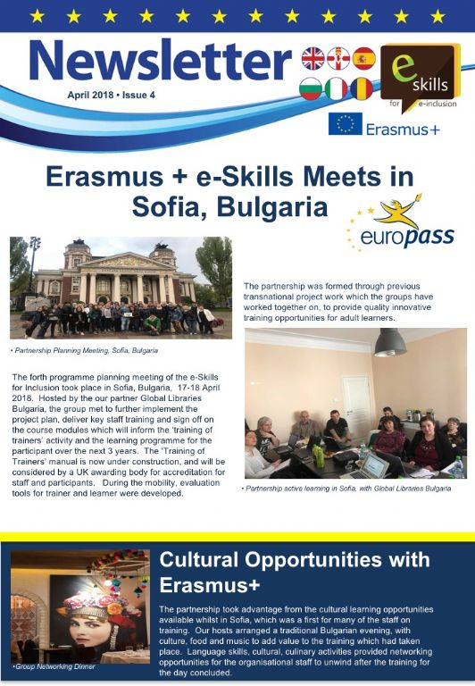 April 2018 Erasmus+ eSkills Newsletter