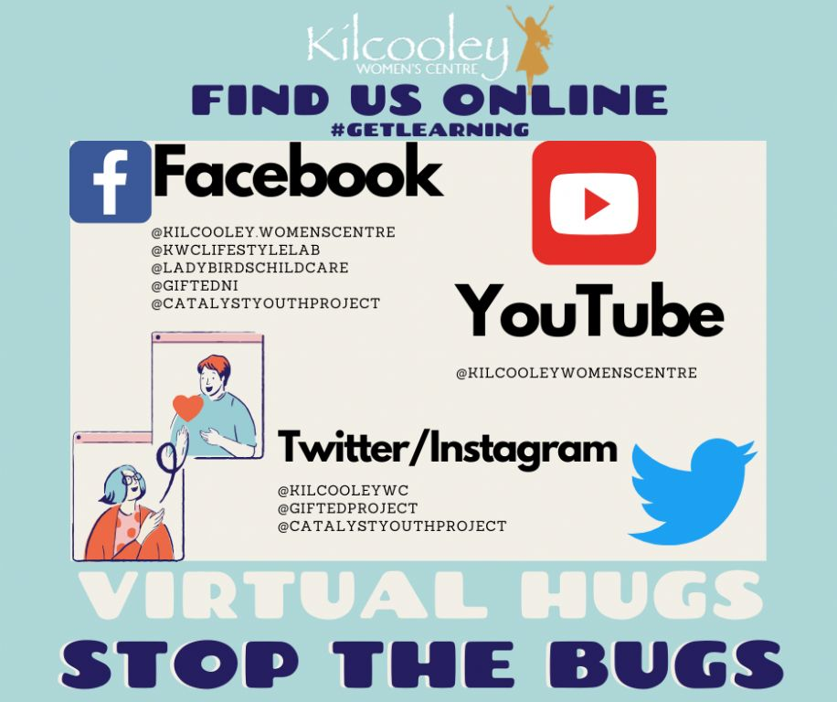 blue bordered stop the spread facebook post
