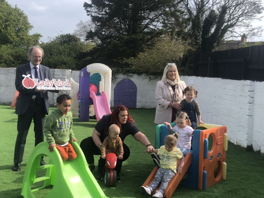 Minister for Education visits Ladybirds Childcare